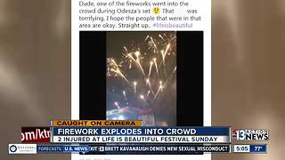 People injured by firework at Life is Beautiful