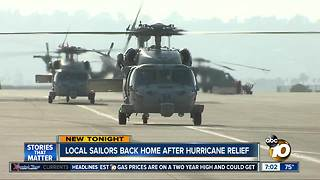 Local Sailors return after Hurricane Harvey relief efforts - Video