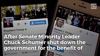 Trump Eviscerates Schumer in Post-Shutdown Tweet - Video