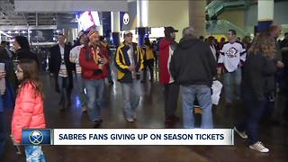 Sabres fans giving up on season tickets