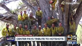 Center pays tribute to fallen Granite Mountain Hotshots - Video