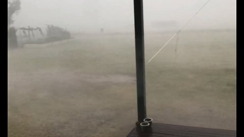 Severe Storm Batters Chinchilla With Heavy Rain and Hail
