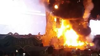 Fire on Stage of Tomorrowland Unite Rave Festival Forces Evacuation - Video