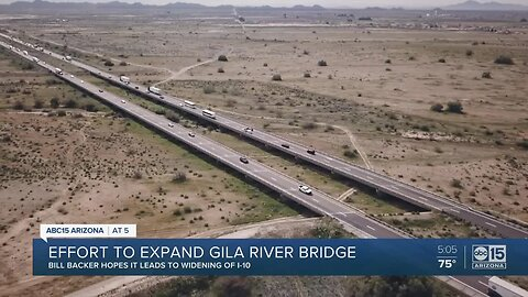 Proposed state bill would help fund widening of Gila River Bridge