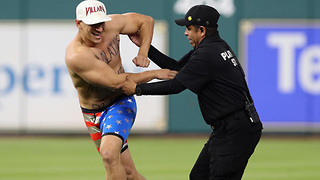 Famous YouTube Prankster VitalyzdTv STREAKS During World Series Game 5 - Video