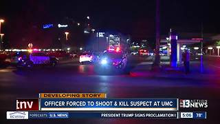 Officer forced to shoot and kill suspect at UMC - Video