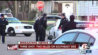 Two men killed in triple shooting on Indianapolis' southeast side