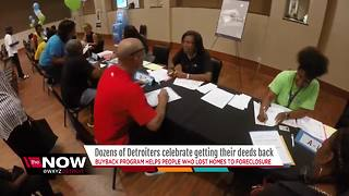 Dozens of Detroiters celebrate getting their deeds back - Video