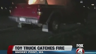 Toys R US toy truck recall after fire - Video