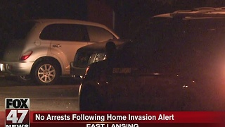 No arrests following home invasion alert - Video
