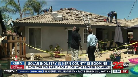 Kern Back In Business: Local solar company constantly hiring to keep up with demand