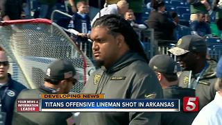 Titans Player Injured When Grazed By Bullet - Video