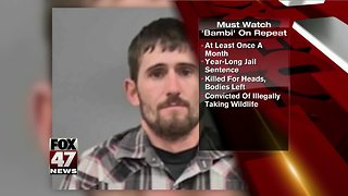 A Missouri  judge is sentencing a poacher to a year in jail — and making him watch Bambi - Video