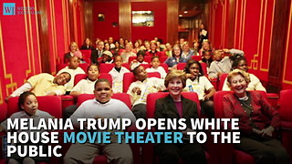 Melania Trump Opens White House Movie Theater To The Public - Video