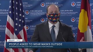 "Polis urges Coloradans to wear a cloth mask ""at all times"" in public"