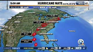Hurricane Nate update 10/7/17 - 7am report - Video