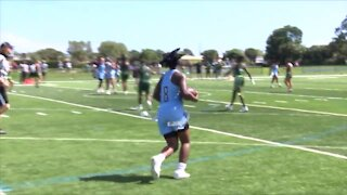 Keiser flag football takes Sun Conference title