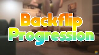 BACKFLIP PROGRESSION FLAT!!!