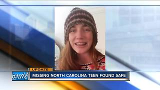 Missing North Carolina teen found safe - Video