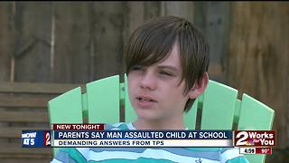 Family fuming after they claim son was put in chokehold by man at school - Video
