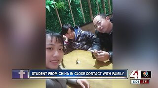 Coronavirus: Park University student from China in close contact with family