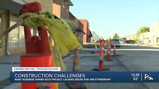 Bixby business owners dealing with downtown construction