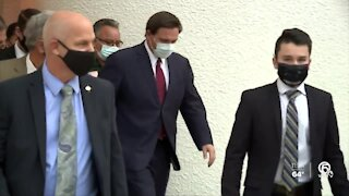 Palm Beach County Mayor David Kerner and Governor DeSantis meet to discuss COVID vaccine distribution