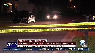 Woman in critical condition after shooting at suburban Lake Worth home - Video