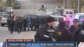 Standoff ends just blocks away from deadly police shooting - Video