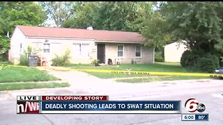 SWAT situation ends peacefully on Indy's NE-side after person shot, killed - Video