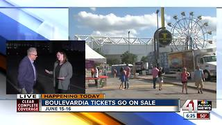 Boulevardia tickets on sale today - Video