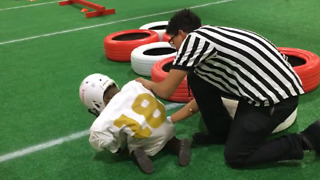Kid Fails At Football Obstacle Course, and It's Hilarious! - Video