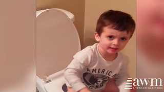Mom Goes To Check On Toddler In Bathroom, Walks In On Hilarious Scene That's Now Going Viral