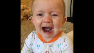 Baby very emotional as he listens to Adele