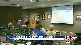 Eclipse informational meeting in Beatrice - Video