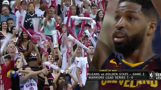 Tristan Thompson HECKLED With Khloe Chants During NBA Playoff Game! - Video