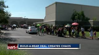 Build-A-Bear Workshop forced to close lines on 'Pay Your Age' Day citing crowd control issues - Video
