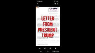 LETTER RELEASE BY PRESIDENT TRUMP