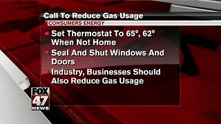 Utility asking customers to reduce gas usage