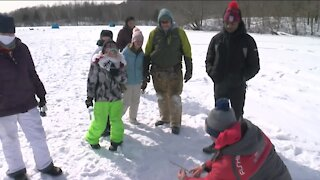 Local kids taught valuable life lessons through ice fishing