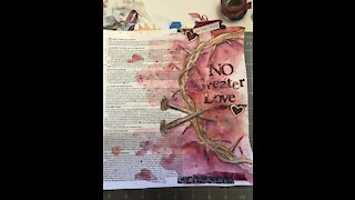Let's Bible Journal John 15- No Greater Love (from Lovely lavender Wishes)