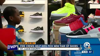 St. Lucie County firefighters help children get new shoes