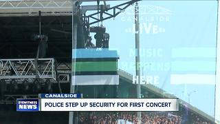 Police step up security at Canalside - Video