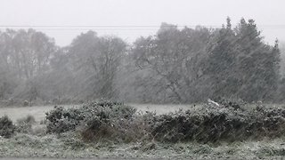 Snow Falls in Scotland - Video