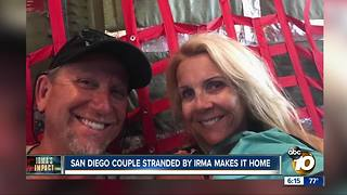 San Diego couple stranded by Hurricane Irma - Video