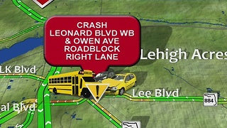 School bus crash reported in Lehigh Acres - Video