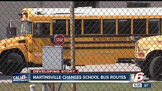 Martinsville changes school bus routes fallowing complaints - Video