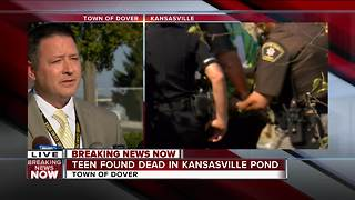 News Conference : Racine Sheriff on body found in Kansasville pond - Video
