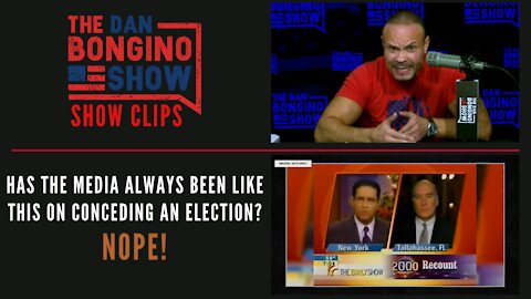 Has the media always been like this on conceding an election? Nope! - Dan Bongino Show Clips