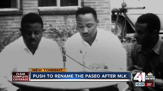 Group wants to rename The Paseo after MLK - Video